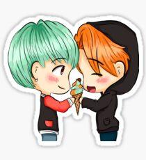 Yoonmin love ice cream Sticker