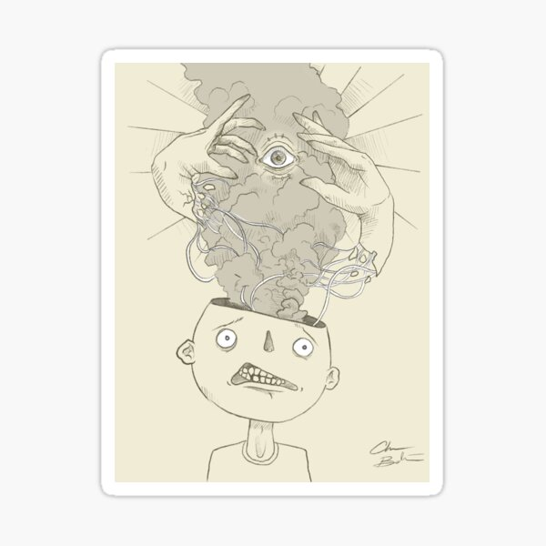 The minds eye Sticker