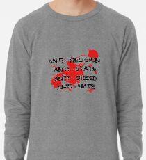 Anti - Punk Rock Slogan Lightweight Sweatshirt