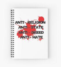 Anti - Punk Rock Slogan Spiral Notebook