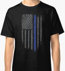 American Flag Blue Line Classic T-Shirt
