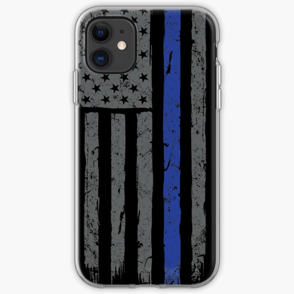 American Flag Blue Line iPhone Soft Case