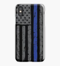 American Flag Blue Line iPhone Case/Skin