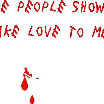 Fake people showing fake love to me by domskalis