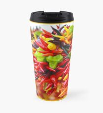 Colorful Hot Pepper Bunches Travel Mug