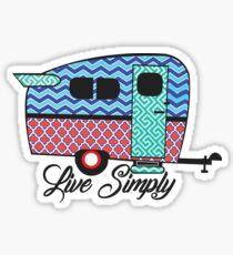 Live Simply - Camper Sticker Sticker
