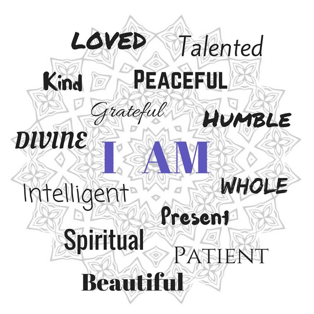 I AM...Positive Affirmation  #affirmation #art #inspirational by Jacqueline Cooper