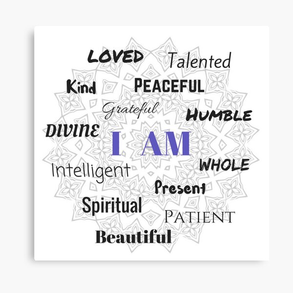 I AM...Positive Affirmation  #affirmation #art #inspirational Canvas Print