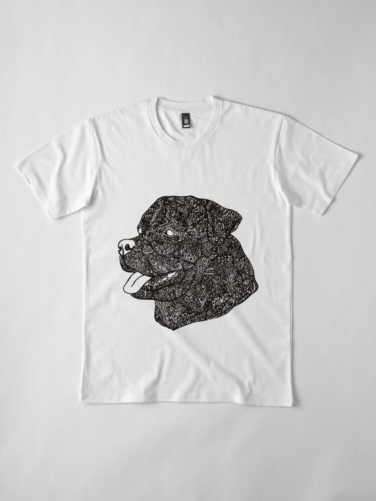 Alternative Ansicht von Komplex Rottweiler Premium T-Shirt