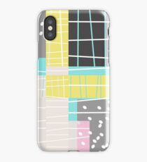 Abstract Art Dots And Stripes iPhone Case/Skin