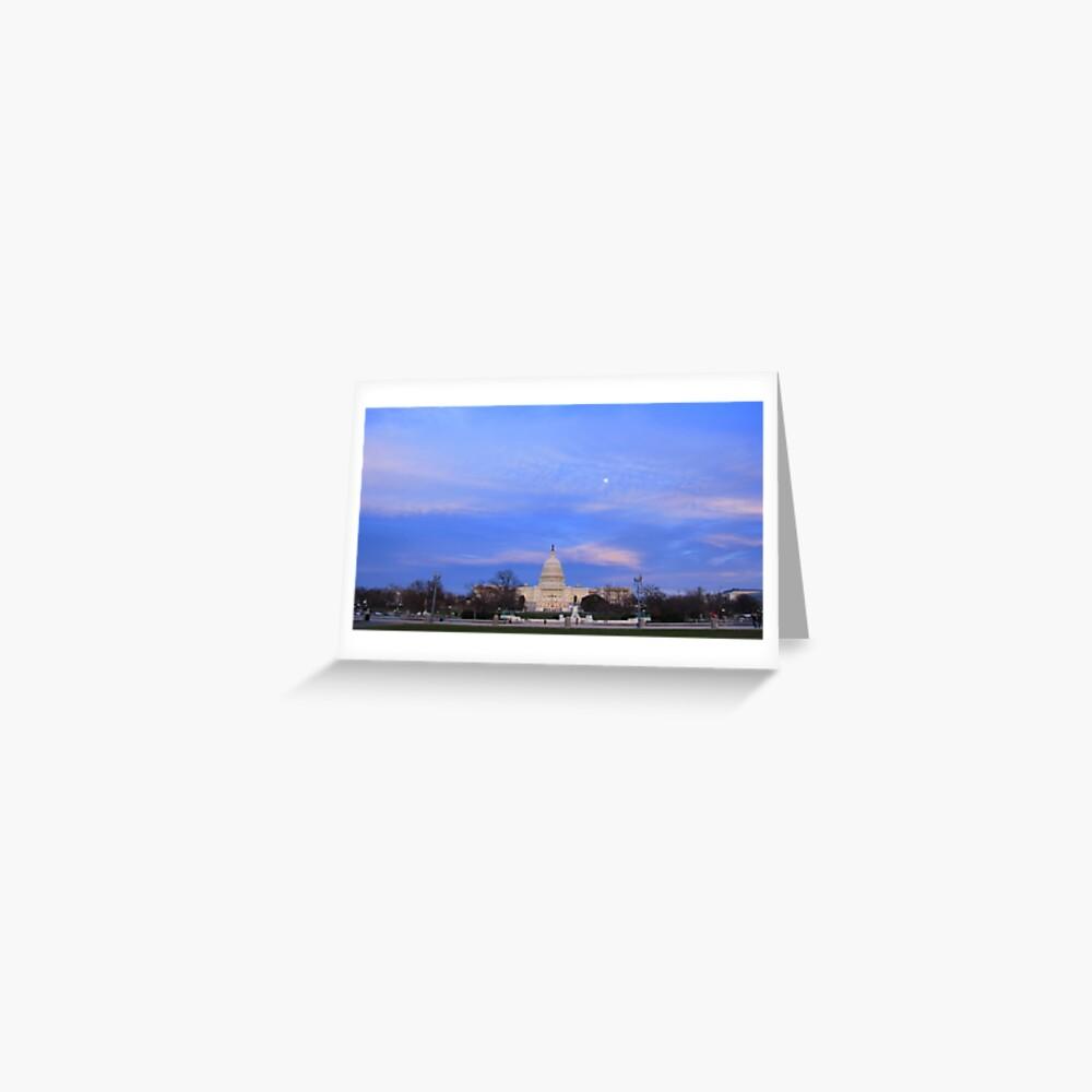 Kapitol der Vereinigten Staaten am Abend Grußkarte