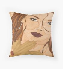 La belle de Louis - Marqueterie Throw Pillow