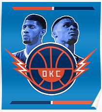 Russell Westbrook and Paul George Poster