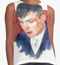Cillian Murphy / Peaky blinders / Watercolor Portrait  Contrast Tank