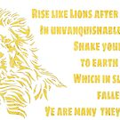 Aufstieg wie Shelley Gedicht des Löwes von RainbowRetro