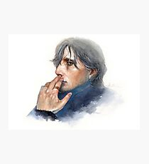 Mads Mikkelsen / Sexiest man in Denmark / Watercolor Portrait Photographic Print