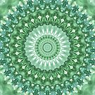 Emerald Green Mandala by Kelly Dietrich