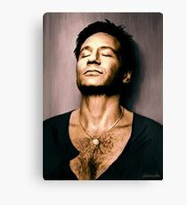 David Duchovny in oil colors Canvas Print