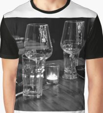Dinner for 2 in B&W Graphic T-Shirt