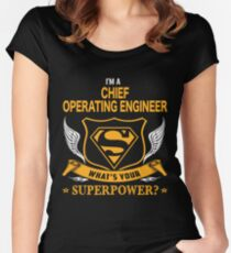 CHIEF OPERATING ENGINEER BEST COLLECTION 2017 Women's Fitted Scoop T-Shirt