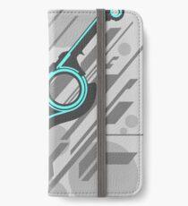 Monado Abstrakt (Grau) iPhone Flip-Case/Hülle/Klebefolie
