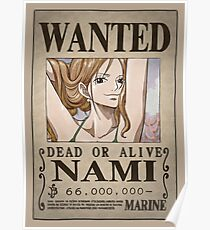 One Piece Wanted Poster: Nami Poster