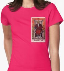 Tarot Memes - The Emperor is Daddy <3 Womens Fitted T-Shirt