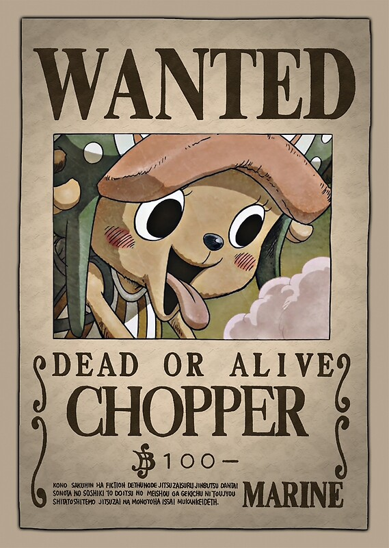 Affiche one piece wanted chopper impressions photo - Affiche wanted one piece ...