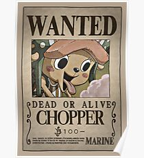 One Piece Wanted Poster: Chopper Poster