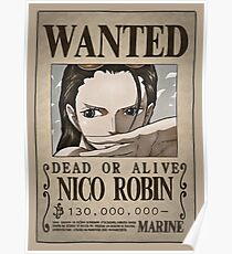 One Piece Wanted Poster: Robin Poster