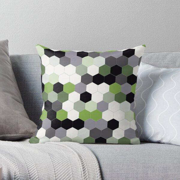 Hex - Kale Green/Greenery Green Throw Pillow