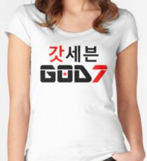 ​♫♥I Love GOD7-KPop Forever♥♪ Women's Fitted Scoop T-Shirt