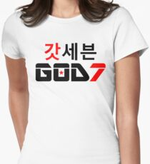 ♫♥I Love GOD7-KPop Forever♥♪ Womens Fitted T-Shirt