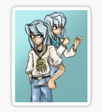 Yu-Gi-Oh! Yami Bakura and Ryou Bakura Sticker