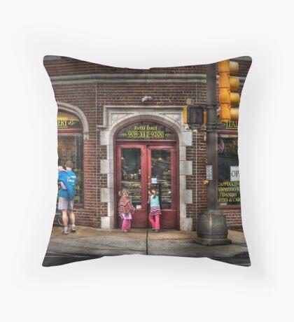 The Italian Bakery Throw Pillow