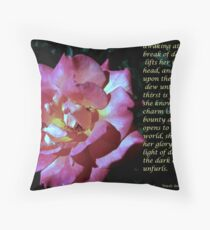 Collaboration - She Awakens Throw Pillow