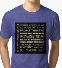 Manchester New Hampshire Famous Landmarks Tri-blend T-Shirt