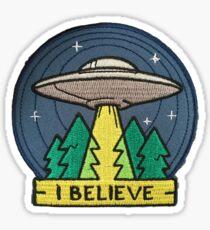 I Believe UFO patch Sticker