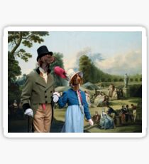 German Shorthaired Pointer Art Canvas Print - The summer Party Sticker