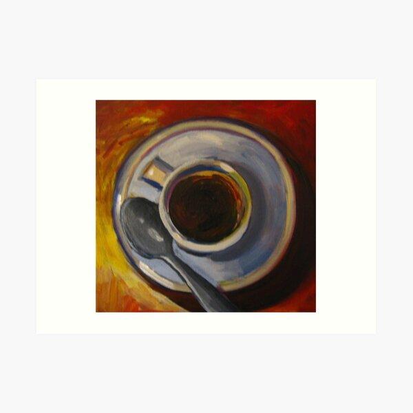 Coffee with warm background Art Print