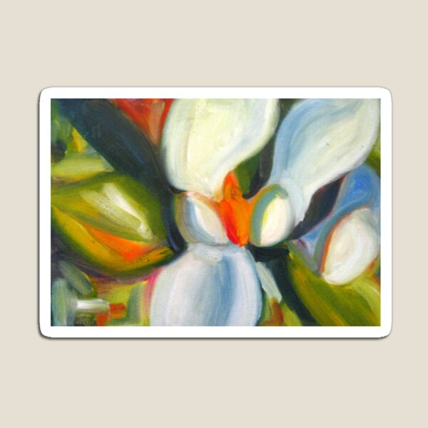Magnolia Abstract  Magnet