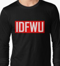 IDFWU - Red and White Long Sleeve T-Shirt