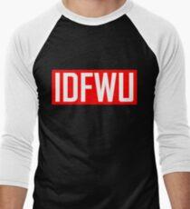 IDFWU - Red and White Men's Baseball ¾ T-Shirt