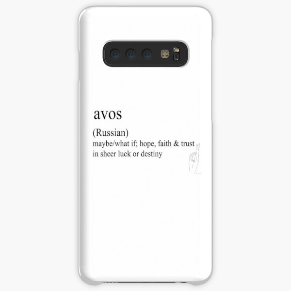 Avos-(Russian)  statement tees & accessories Samsung Galaxy Snap Case