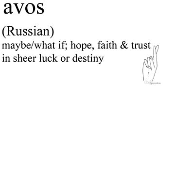 Avos-(Russian)  statement tees & accessories by Rendezvousmag