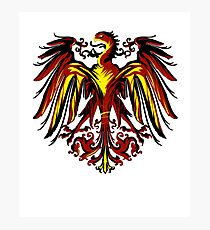 The coat of arms of Germany - Black Eagle Art Design Photographic Print