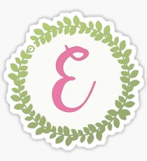 Initial Wreath Monogram E Sticker