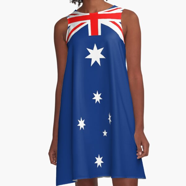 Australian Flag Design Adaptation A-Line Dress
