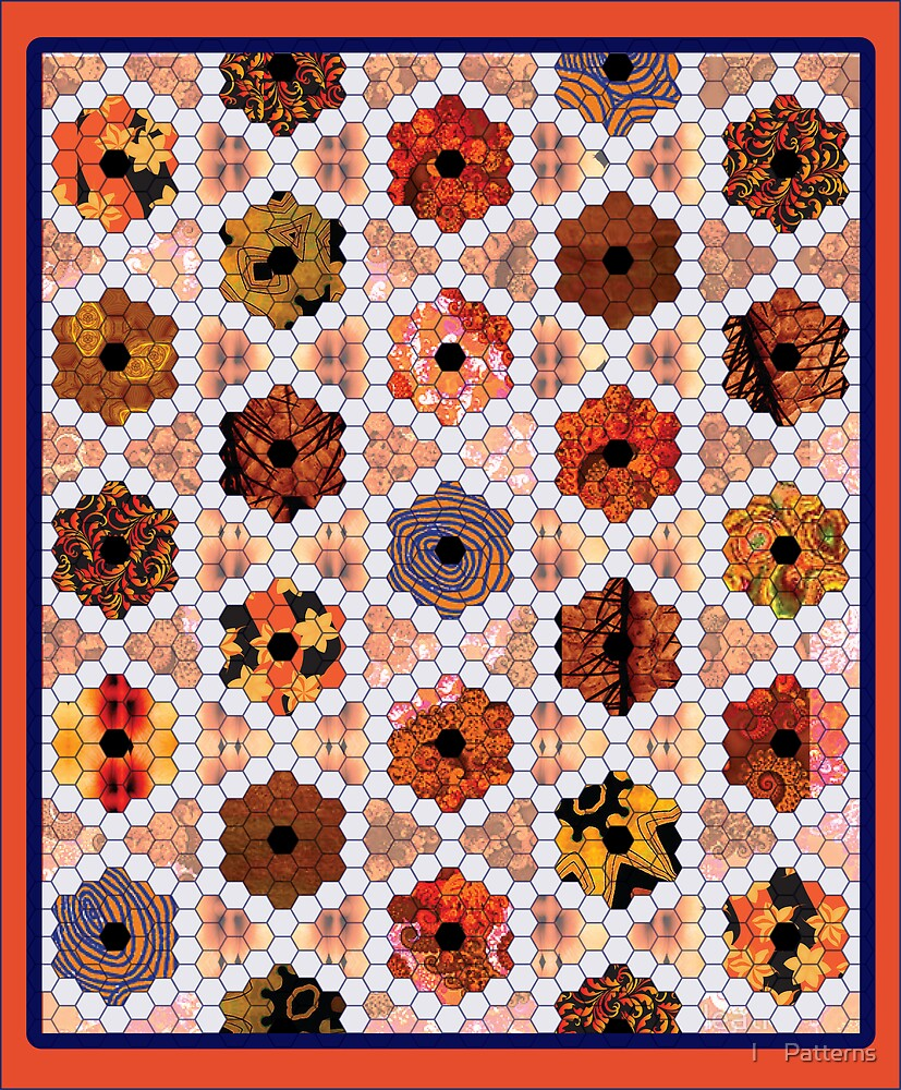 I ♥ Patterns Quilt - April Orange by I ♥ Patterns