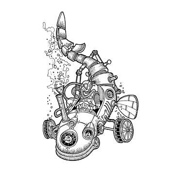 Steampunk car by BalbinaStudio